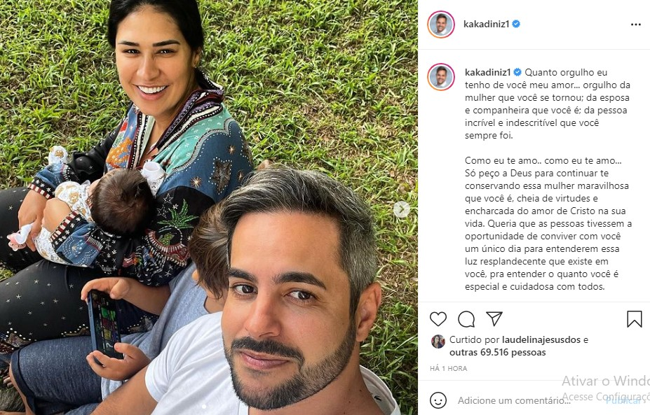 Kaká Diniz homenageia Simone (Foto: Reprodução / Instagram)