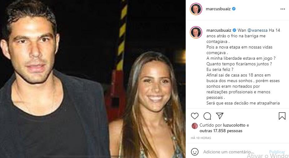 Post compartilhado por Marcus Buaiz - Crédito - Reprodução/ Instagram