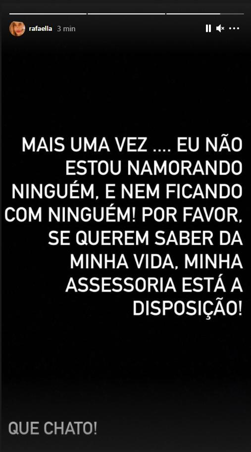 Rafaella Santos se pronuncia na web - Crédito: Reprodução / Instagram