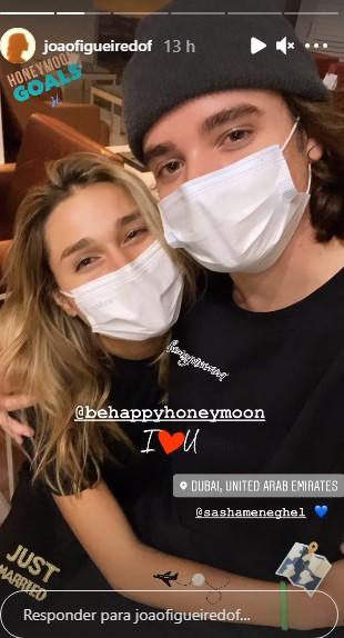 Sasha Meneghel  e João Figueiredo- Crédito: Reprodução/ Instagram