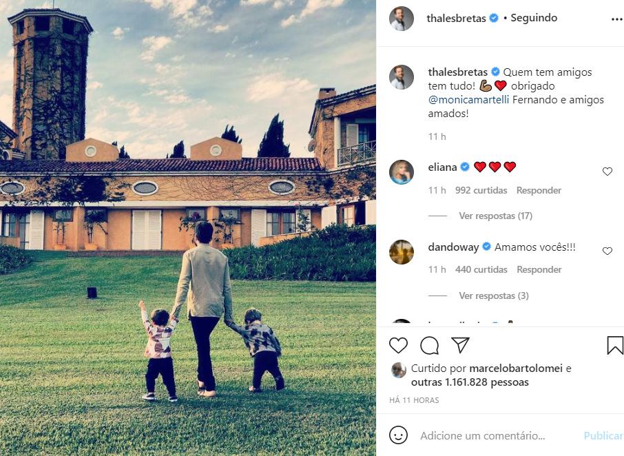 Thales Bretas com os filhos - Crédito: Reprodução / Instagram