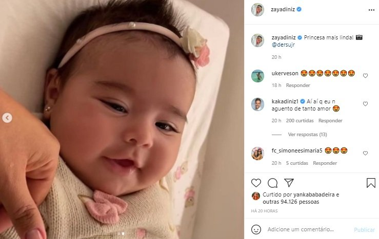 Filha de Simone e Kaká Diniz rouba a cena em nova foto