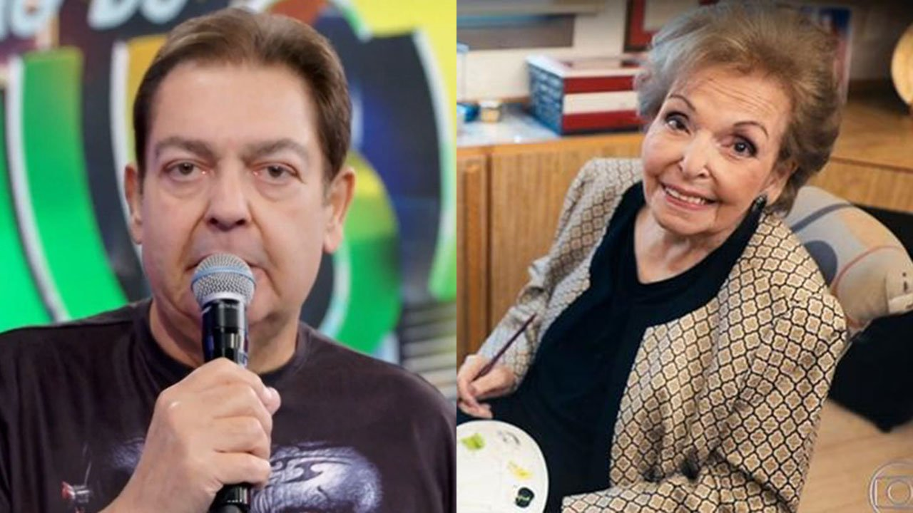 Faustão e sua mãe, Dona Cordélia - Crédito: Reprodução / Globo