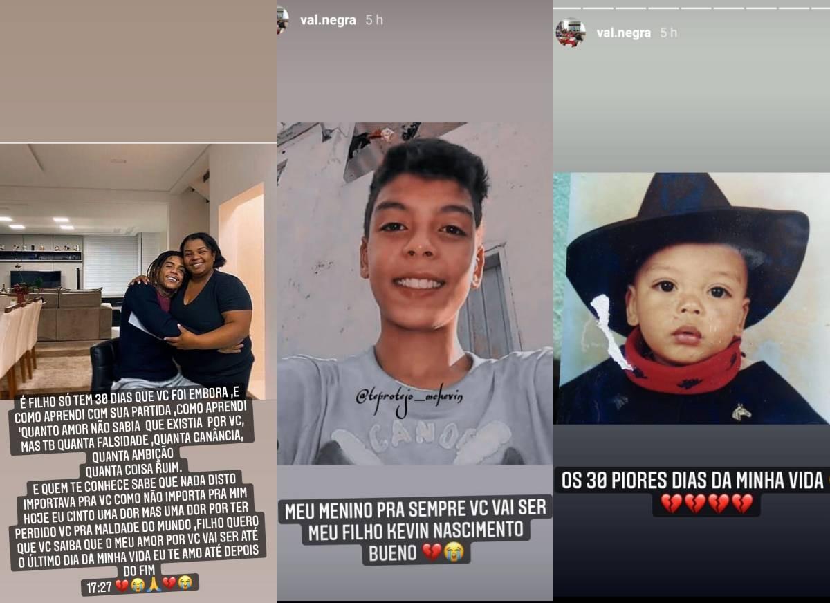 Valquiria Nascimento fala sobre o primeiro mês após a morte do filho - Crédito: Reprodução / Instagram