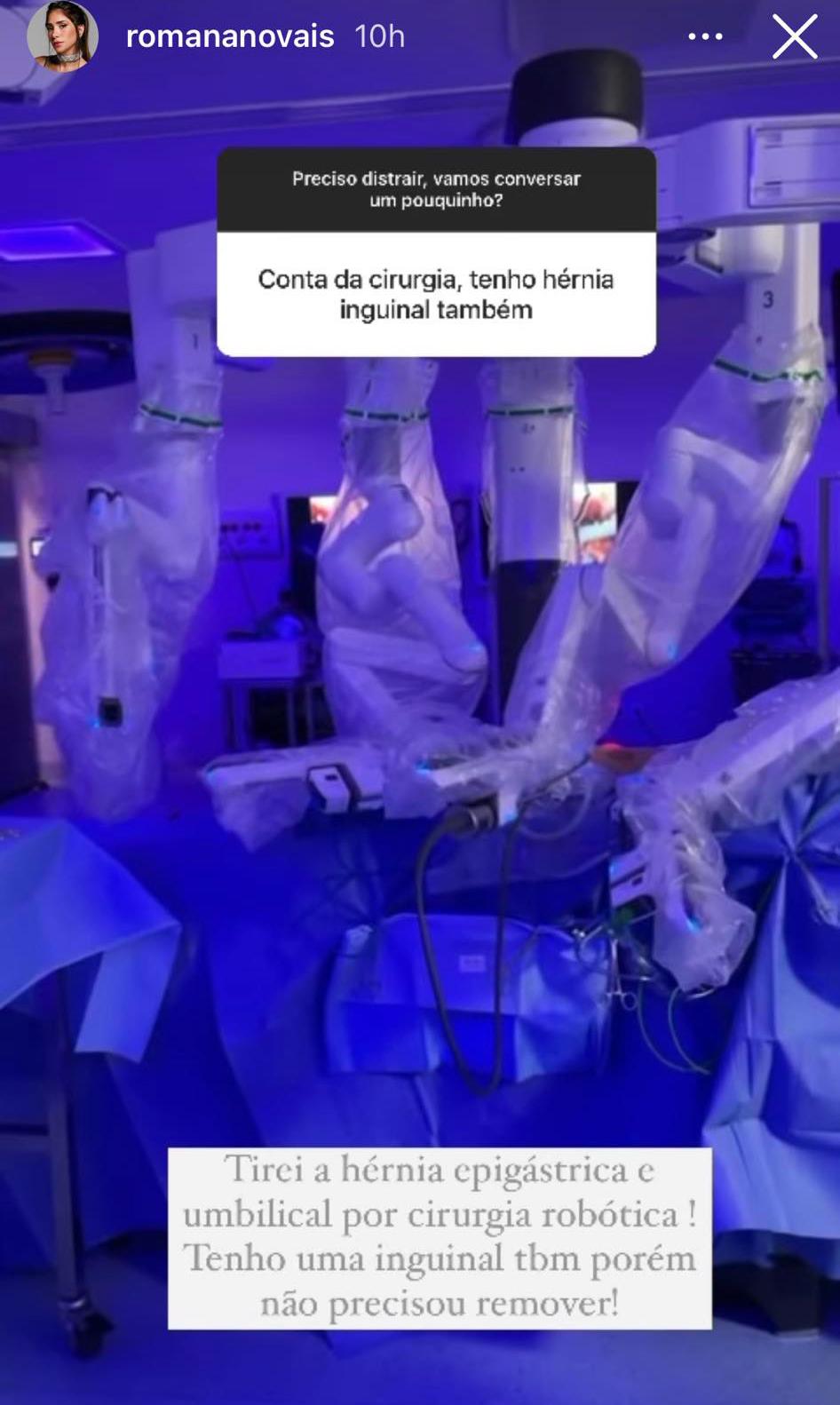 Romana Novais fala sobre cirurgia no abdômen - Crédito: Reprodução / Instagram
