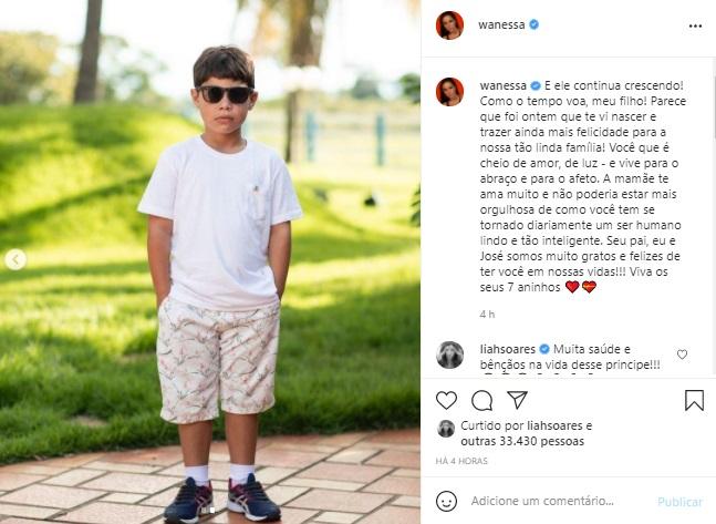 Wanessa Camargo celebra aniversário do filho com homenagem especial