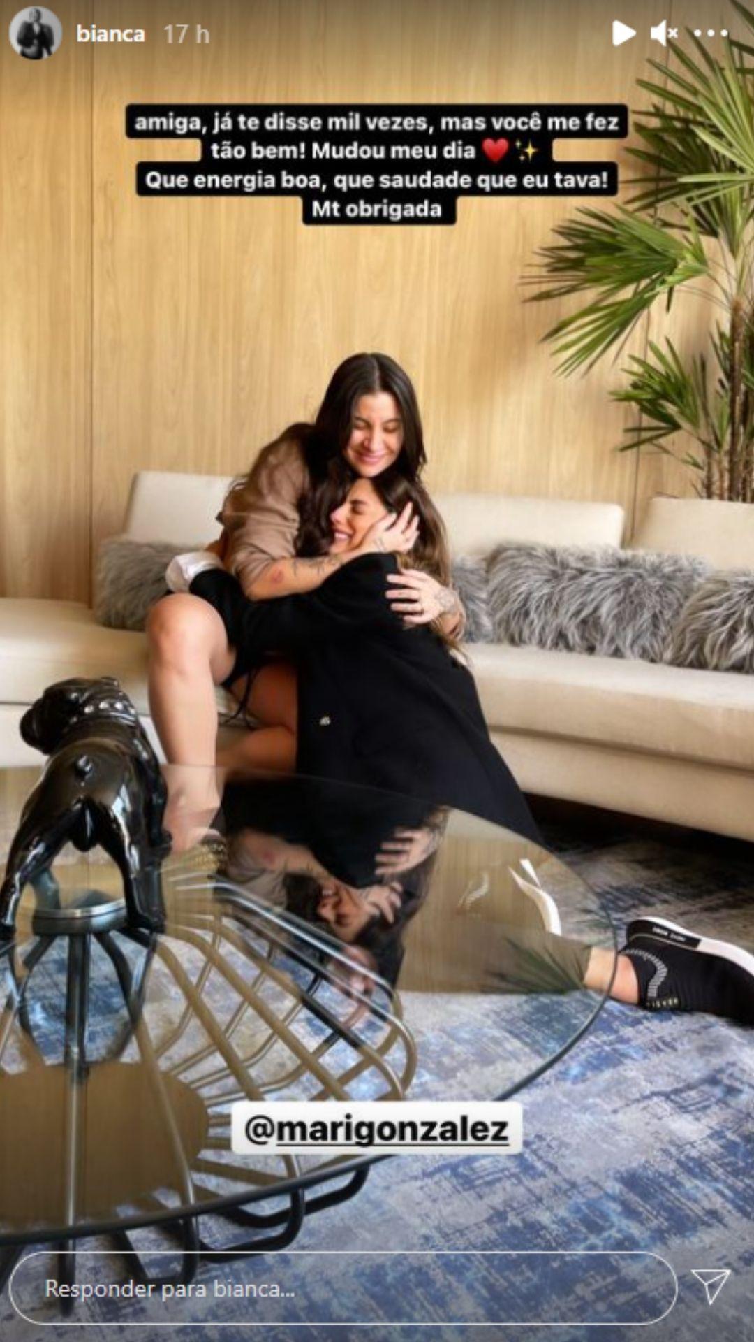 Bianca Andrade e Mari Gonzalez se reencontram. Foto: Reprodução/Instagram