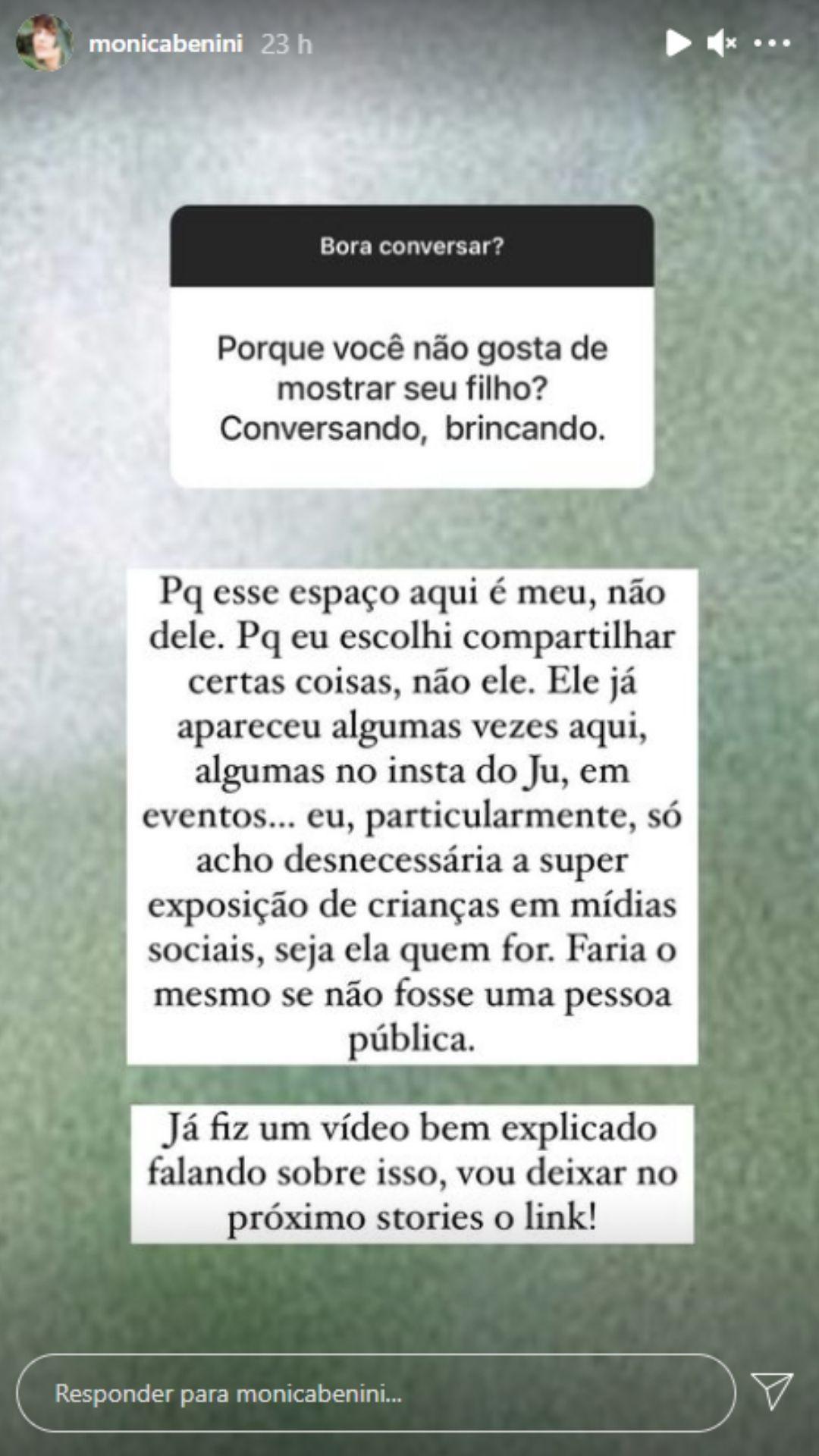 Grávida, Mônica Benini fala sobre a superexposição de crianças na web. Foto: Reprodução/Instagram
