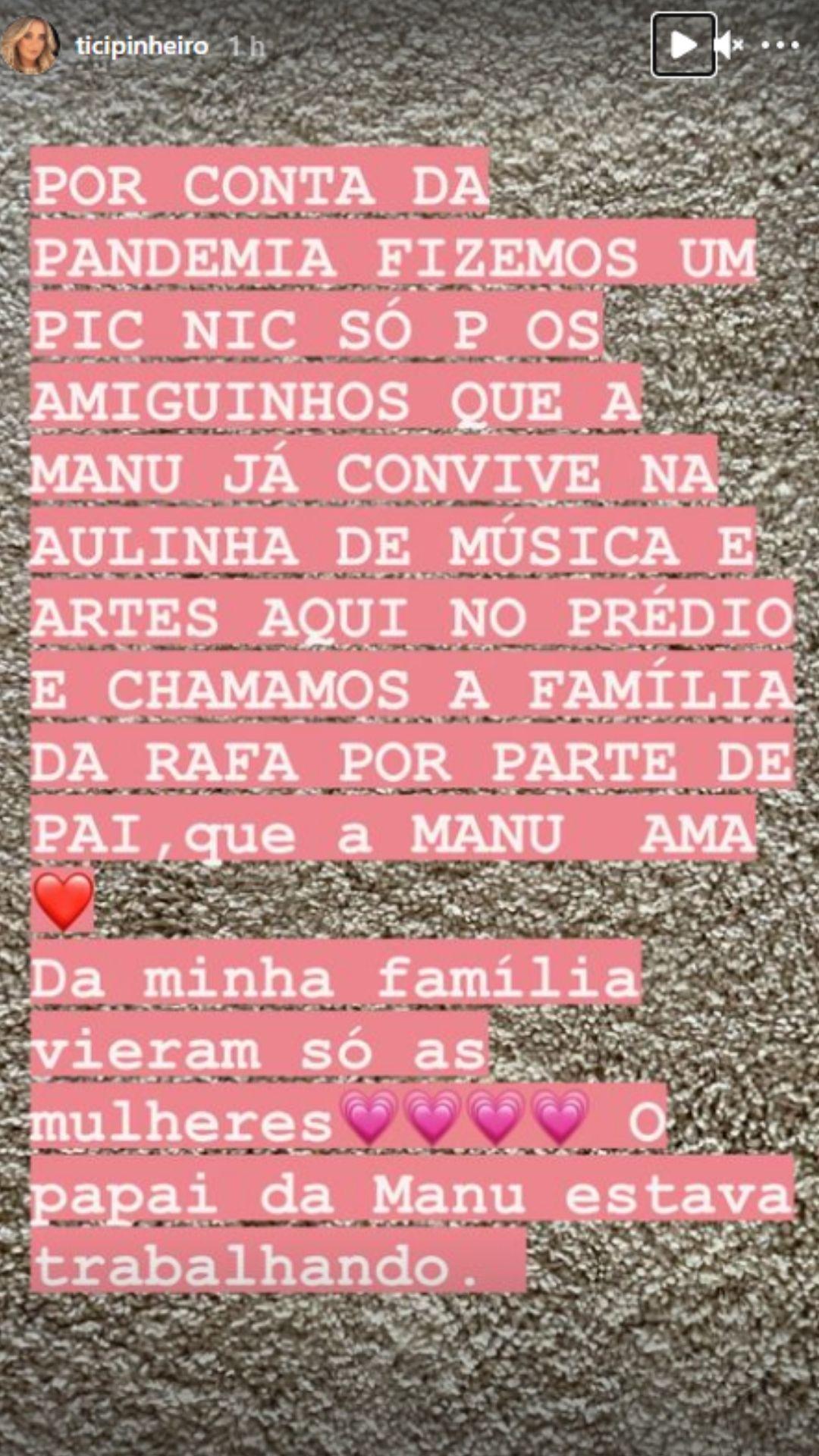 Ticiane Pinheiro mostra detalhes da festa de aniversário da filha caçula. Foto: Reprodução/Instagram