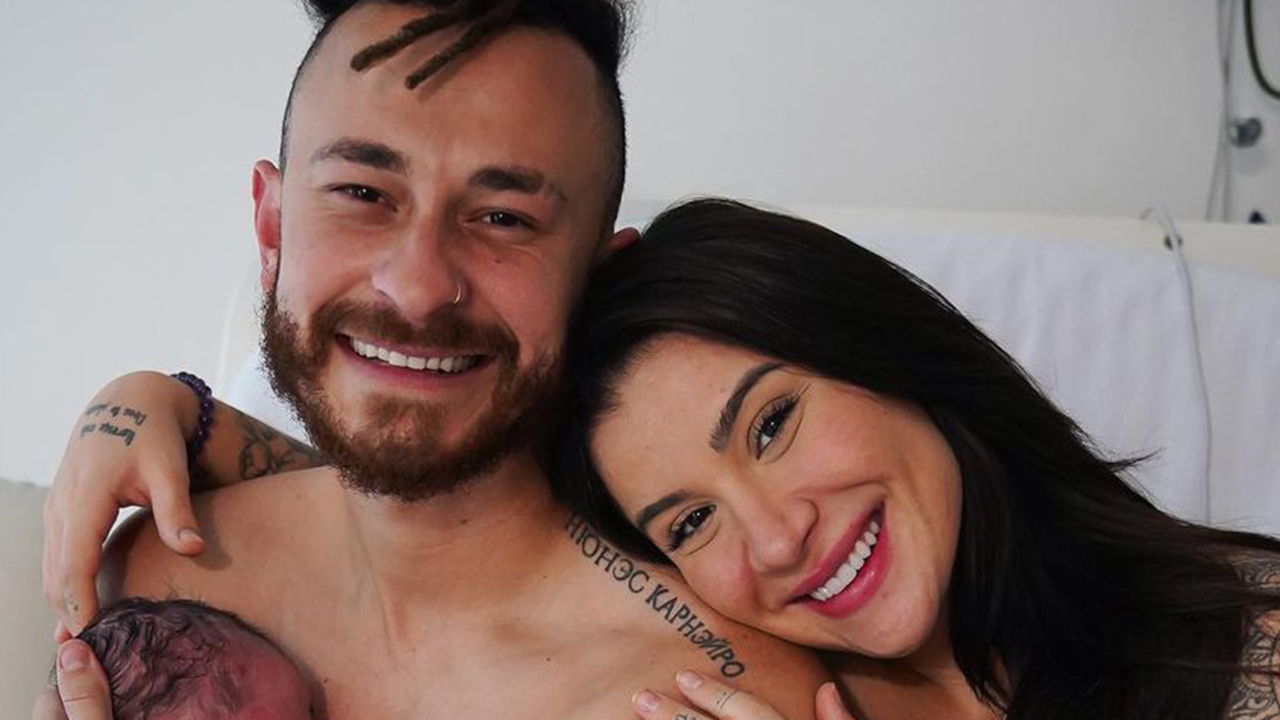 Fred e Bianca Andrade anunciam o nascimento do filho - Crédito: Reprodução / Instagram; Estúdio Thalita Castanha