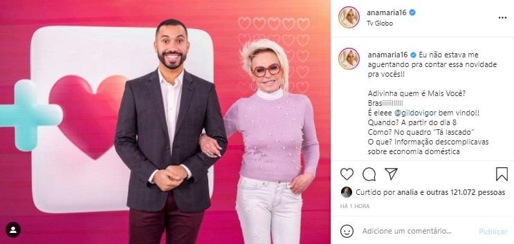 Globo anuncia data de estreia do quadro de Gilberto Nogueira no 'Mais Você'