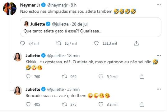 Juliette dá resposta para Neymar - Crédito: Reprodução / Instagram