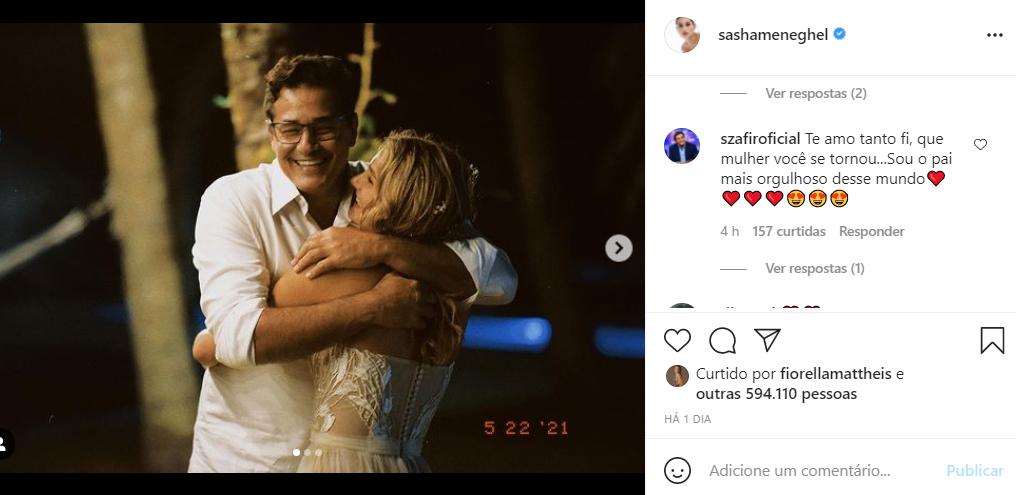 Luciano Szafir responde homenagem de Sasha - Crédito: Reprodução / Instagram