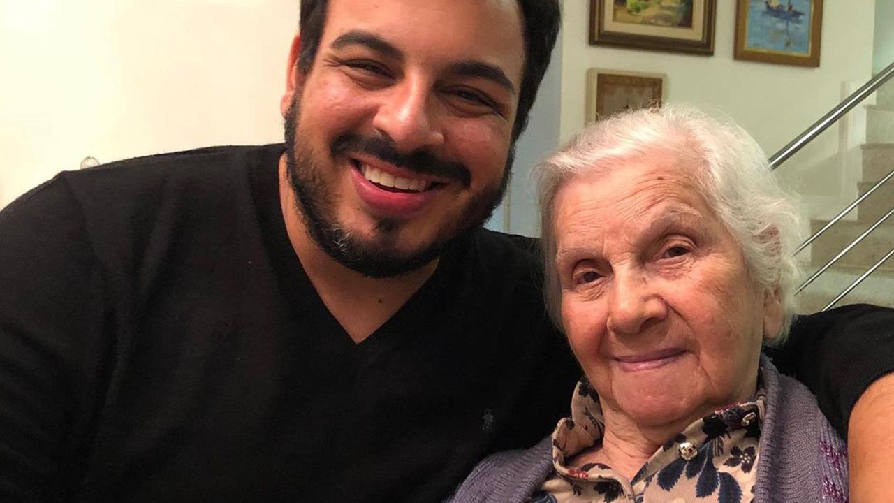 Luis Lobianco e sua avó - Crédito: Reprodução / Instagram