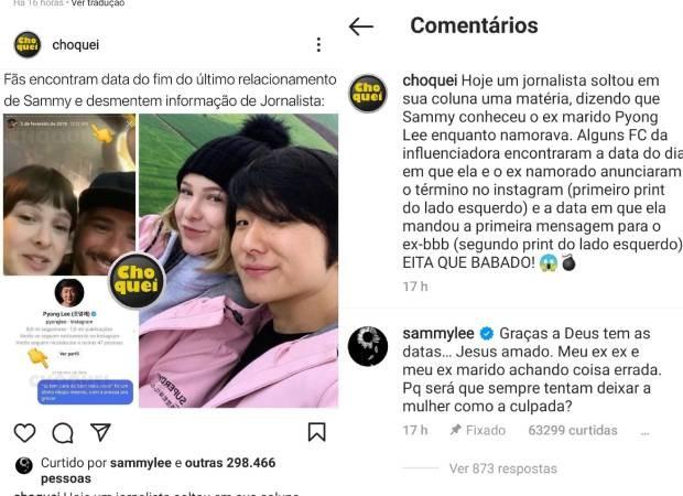 Sammy desmente rumores de traição - Crédito: Reprodução / Instagram