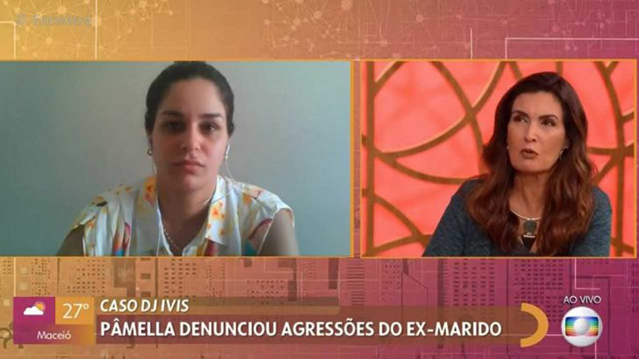 Pamella Holanda no programa Encontro com Fátima Bernardes - Crédito: Reprodução / Globo