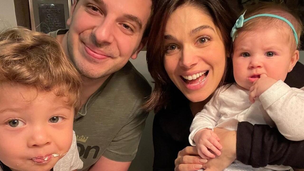 Sabrina Petraglia, marido e filhos, Gael e Maya