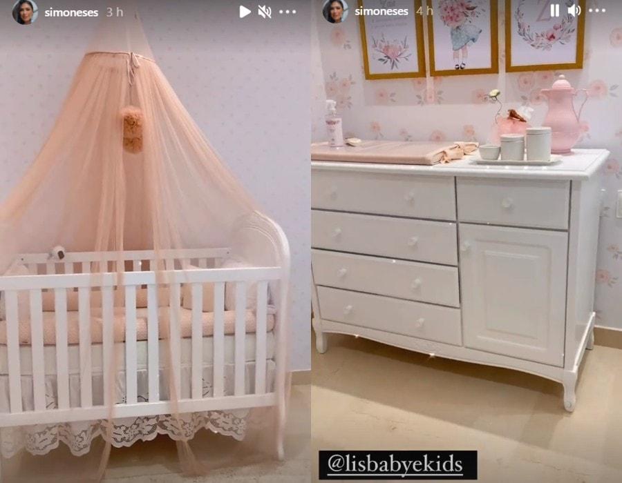 Simone mostra a decoração do quarto da filha, Zaya - Crédito: Reprodução / Instagram