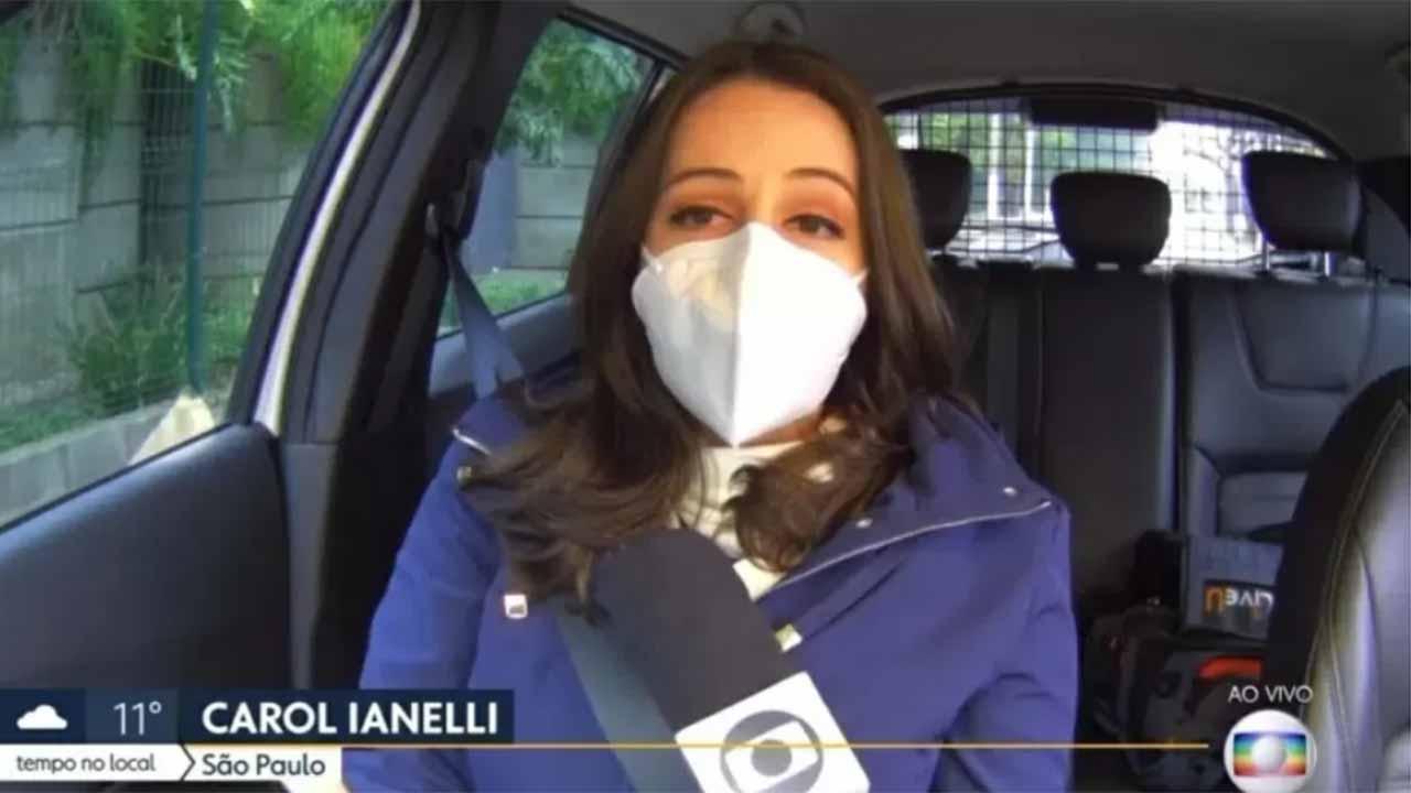 Carol Ianelli, repórter da Globo - Crédito: Reprodução / Globo