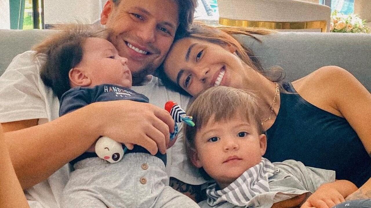Saulo Poncio, Gabi Brandt e filhos