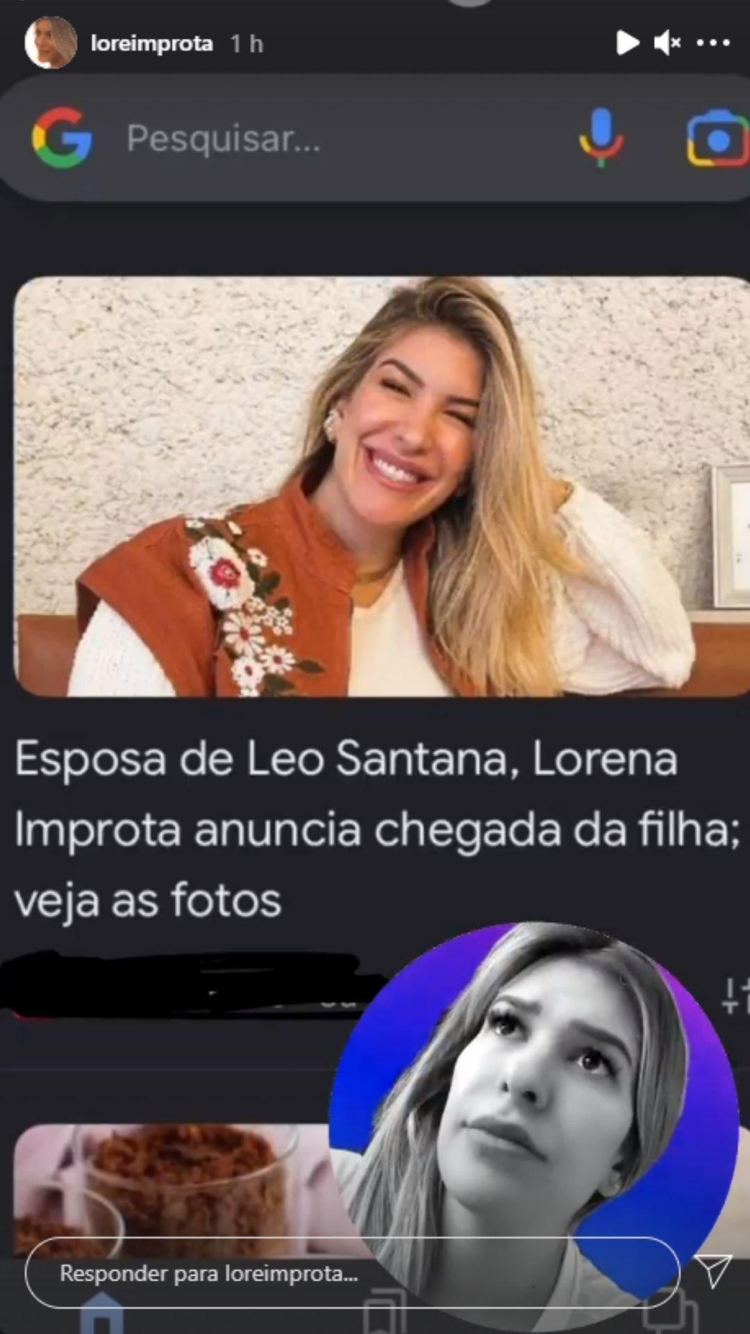 Lorena. Foto: Reprodução/Instagram