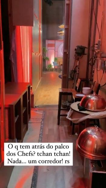 Ana Paula Padrão mostra os bastidores do Masterchef Brasil - Crédito: Reprodução / Instagram