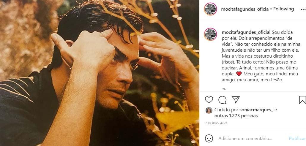 Mocita Fagundes fala sobre Tarcísio Filho - Crédito: Reprodução / Instagram