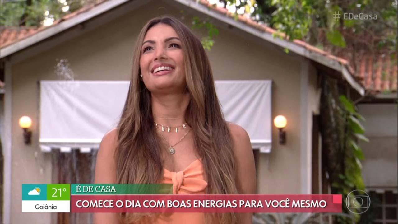 Patricia Poeta no programa 'É De Casa' - Crédito: Reprodução / Globo