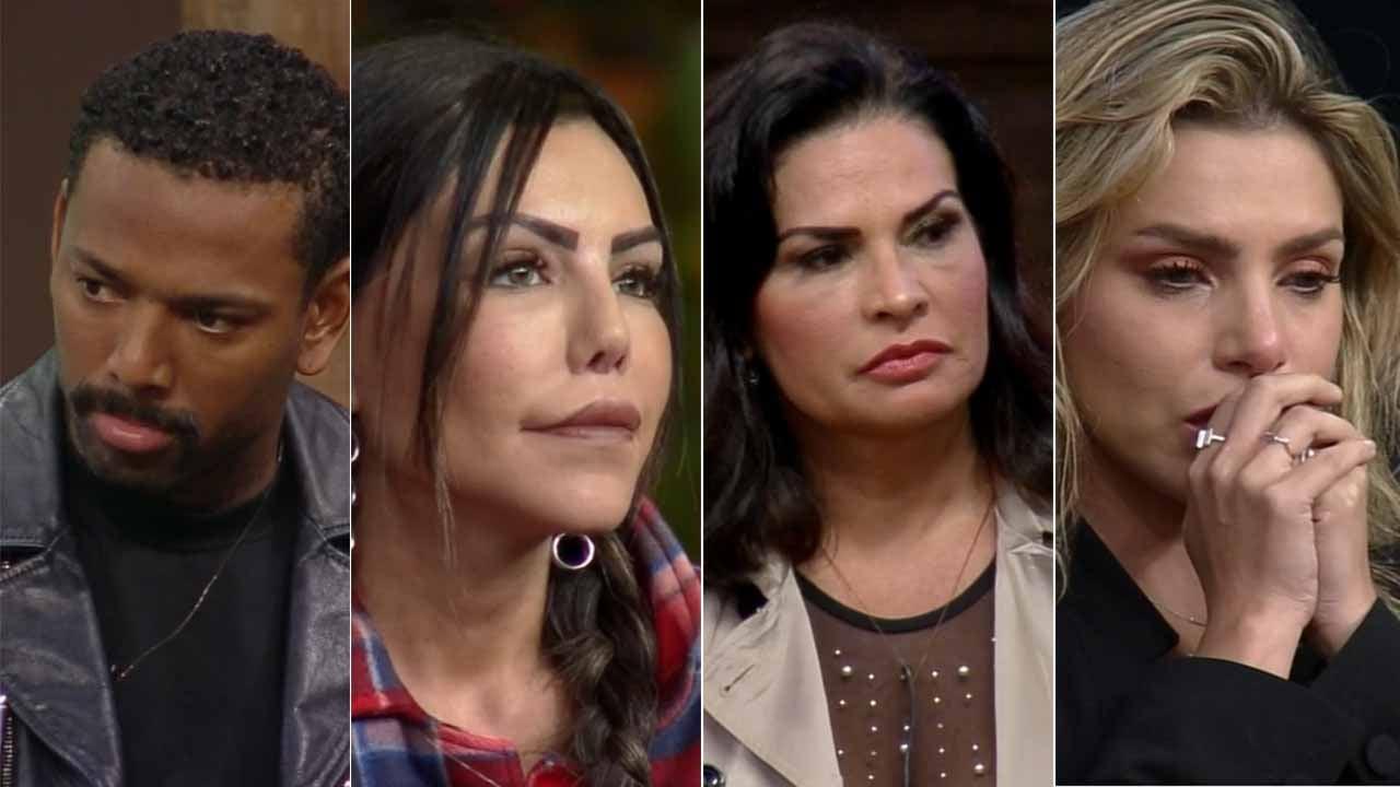 Nego do Borel, Liziane Gutierrez, Solange Gomes e Erika Schneider - Reprodução / Record