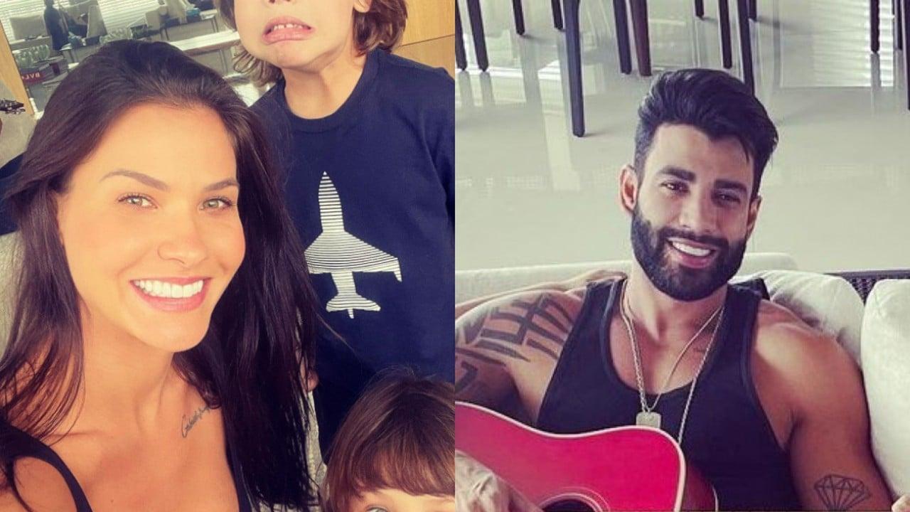 Andressa Suita mostra dia em família com Gusttavo Lima e filhos