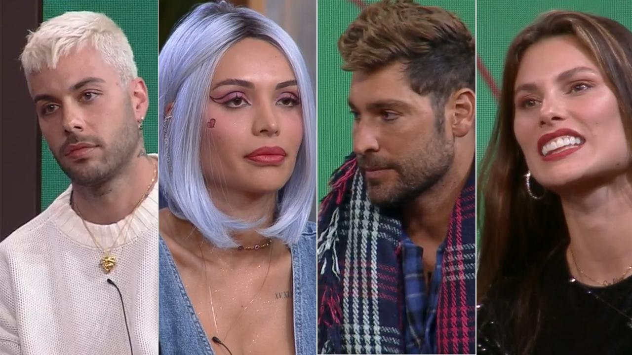 Gui Araújo, Aline Mineiro, Victor Pecoraro e Dayane Mello - Crédito: Reprodução / Record